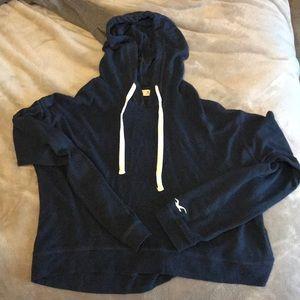 Medium hollister cropped hoodie